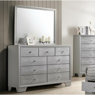 Wash 9 Drawer Double Dresser with Mirror abe5fa6b5
