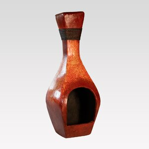 Bottle Clay Wood Burning Chiminea