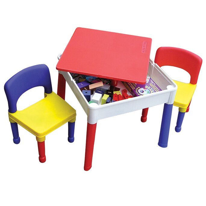 Liberty House Toys 3 Tlg Rechteckiges Kinder Tisch Und Stuhl Set