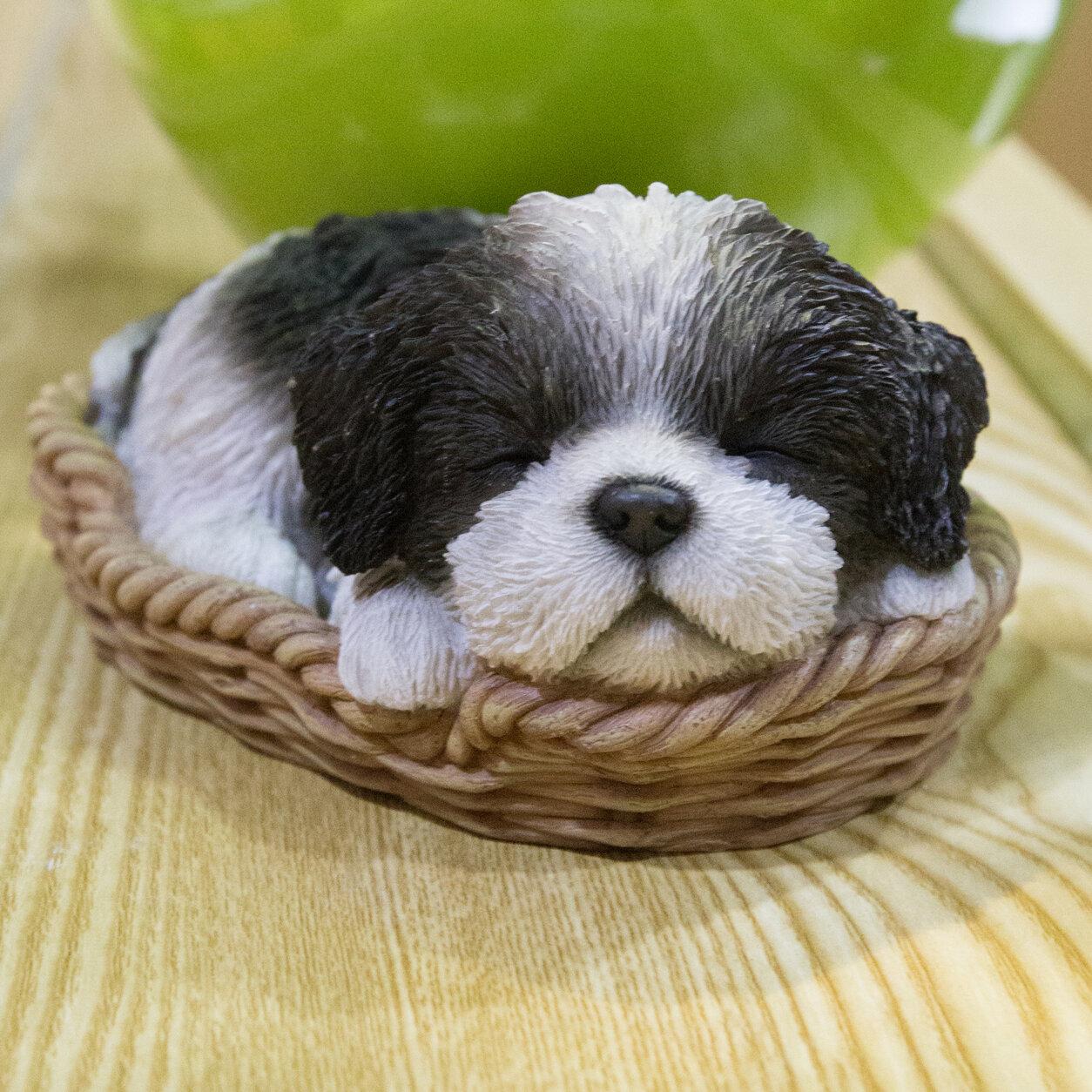 Hi Line Gift Ltd Wicker Basket Shih Tzu Puppy Statue Reviews