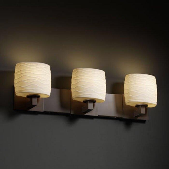 World Menagerie Bismark Oval Shade 3-Light Vanity Light & Reviews ...