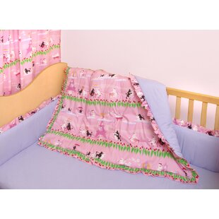 Poodles In Paris 3 Piece Crib Bedding Set