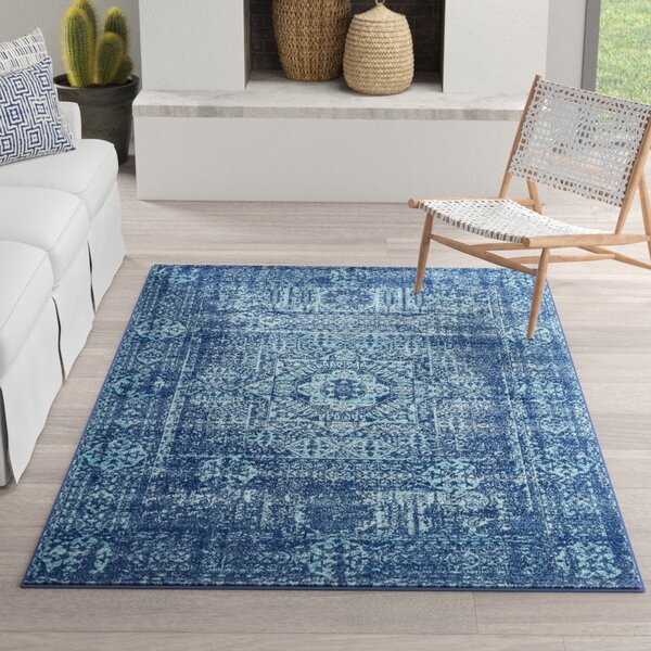 Mistana Cristian Navy Blue Area Rug Amp Reviews Wayfair