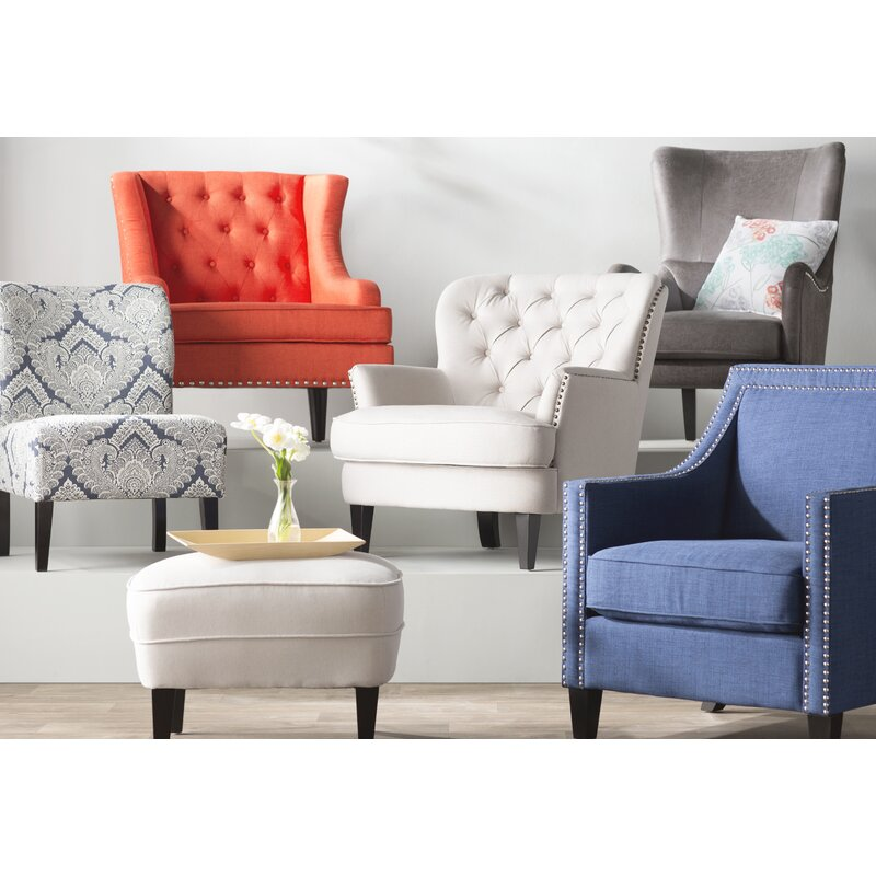 Willa arlo interiors heywood armchair and ottoman - Willa arlo interiors keeley bar cart ...