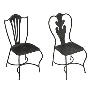 Merrill 2 Piece Metal Side Chair Set by August Grove