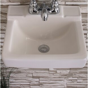save fine fixtures ceramic 14 wall mount bathroom sink - Wall Mount Bathroom Sink