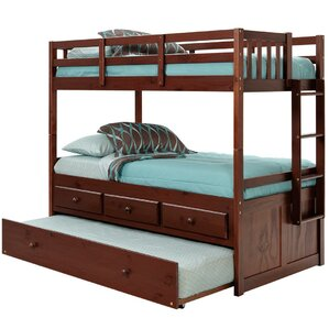 Twin Bunk Bed with Trundle and Storage by Chelsea Home