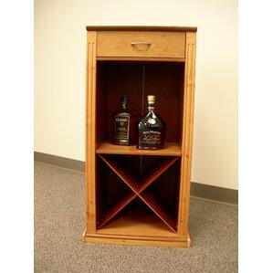 Alpine Modular 4 Bottle Floor Wine Rack b..