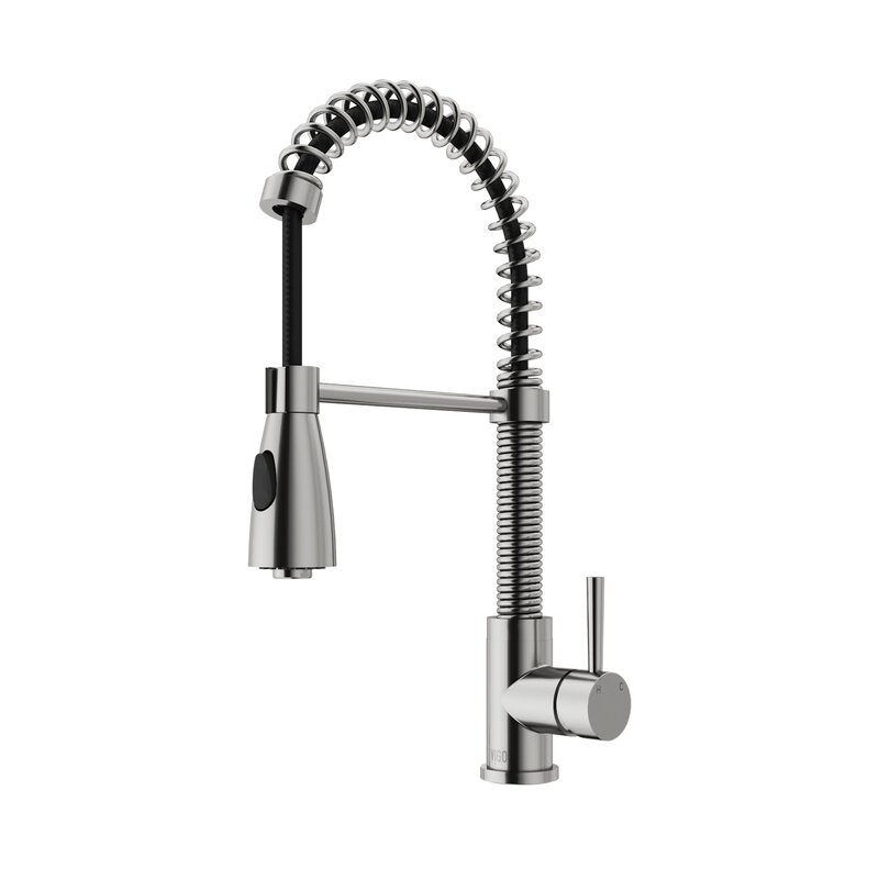 VIGO Brant Pull Down Single Handle Kitchen Faucet with Optional Soap ...