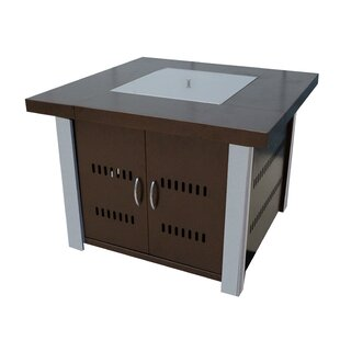 Hiland Stainless Steel Propane Fire Pit Table