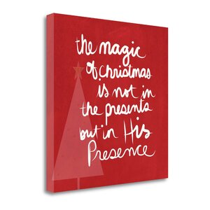 'The  Magic  of  Christmas  -  Red' Textual  Art  on  Canvas