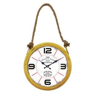 Yellow Circular Wall Clock