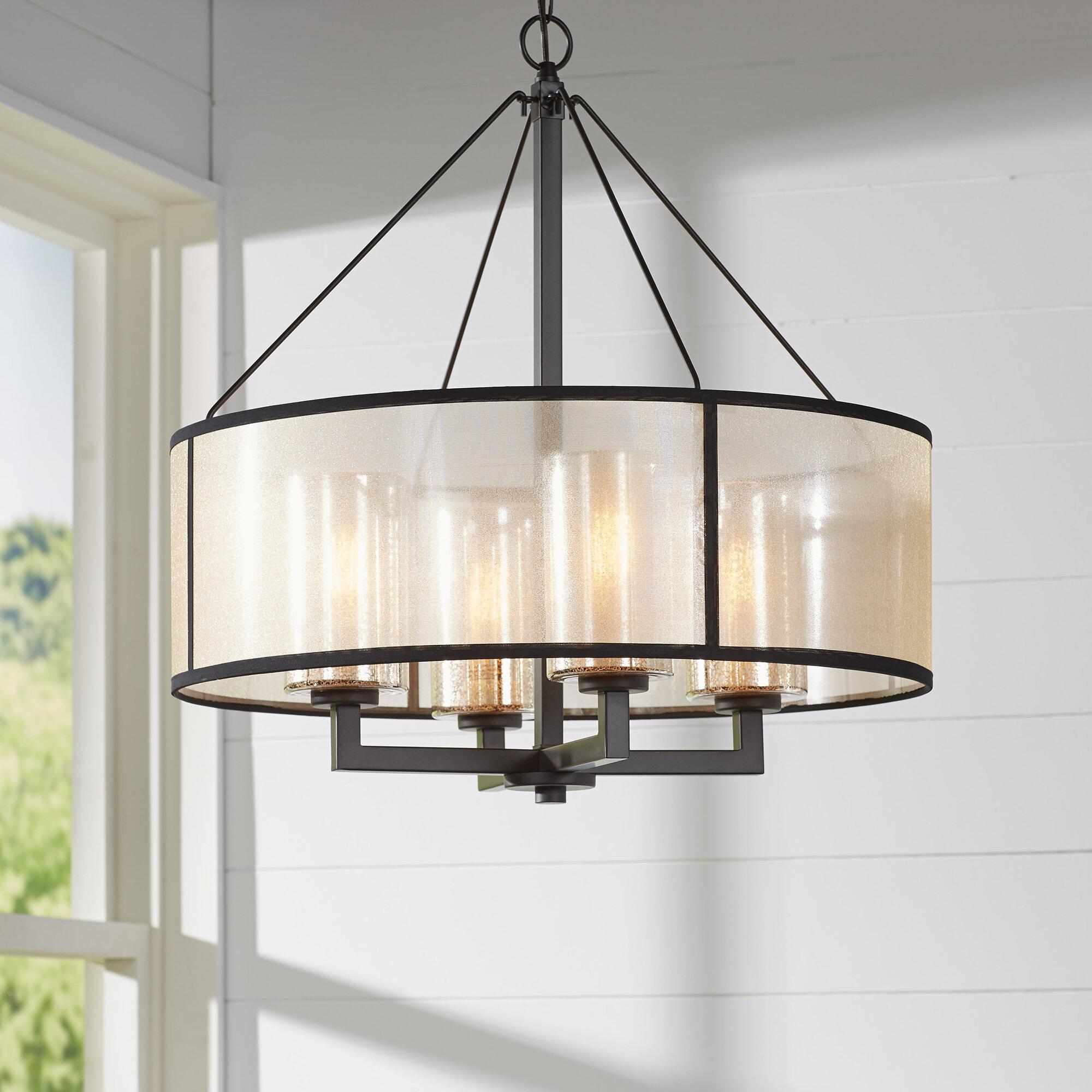 Brayden studio dailey 4 light drum chandelier reviews wayfair