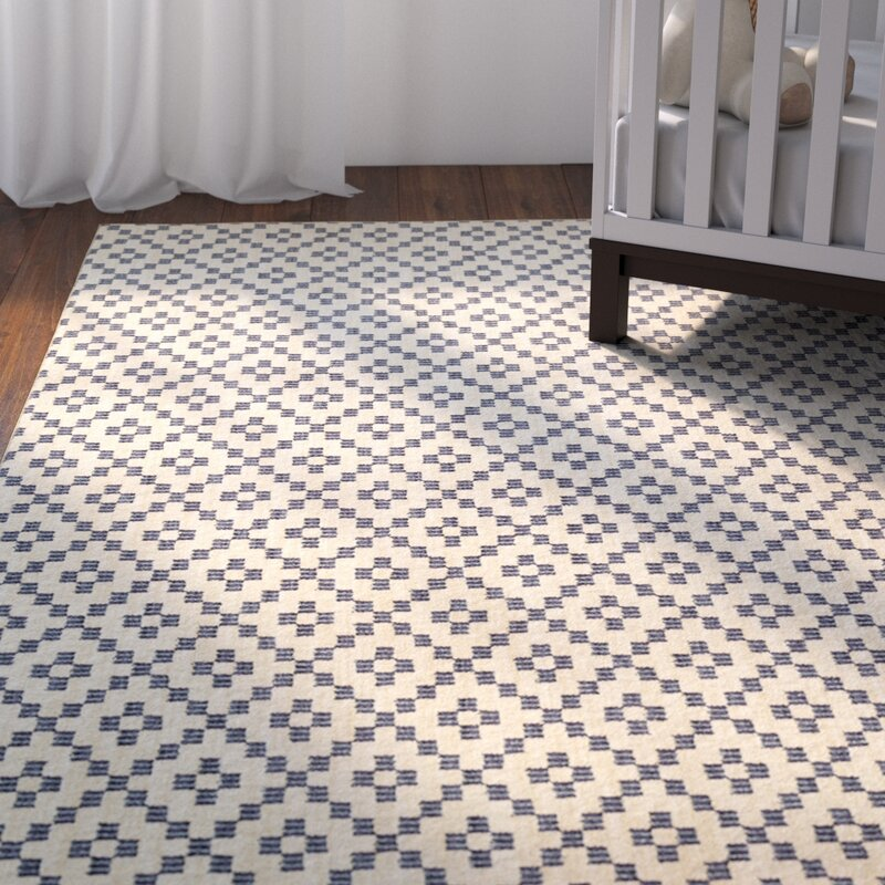 Paulette Simple Lattice Indigo Area Rug