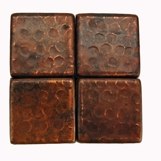 2 X Hammered Copper Tile In Oil Rubbed Bronze