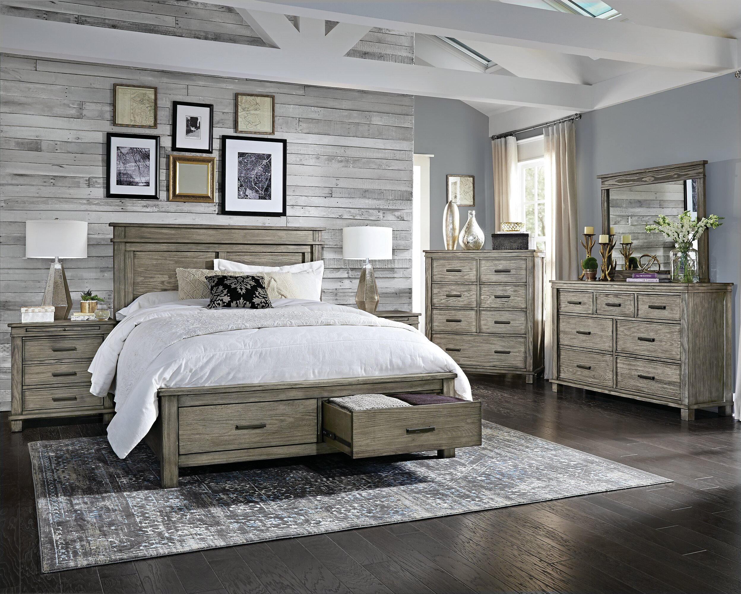 Gracie Oaks Sayler Queen Storage Platform Configurable Bedroom Set ...