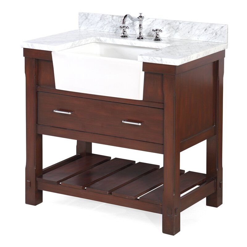 "Bathroom Vanities Set charlotte 36"" single bathroom vanity set & reviews 