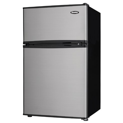 Two Door Compact 3.2 Cu. Ft. Compact/Mini Refrigerator With Freezer