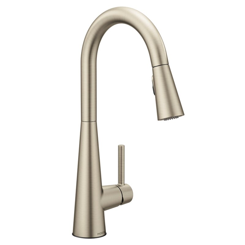 Sleek Pull Down Single Handle Kitchen Faucet with Duralock™, and Power  Clean™ Technology