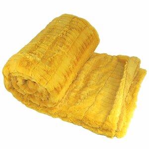 Garret Faux Fur Throw Blanket
