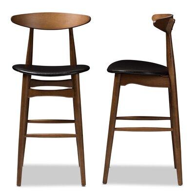 Modern Full Back Leather Bar Counter Stools Allmodern