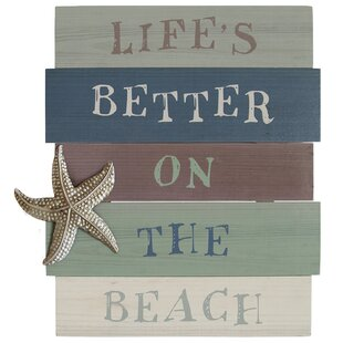 Lifeu0027s Better On The Beach Wall Art