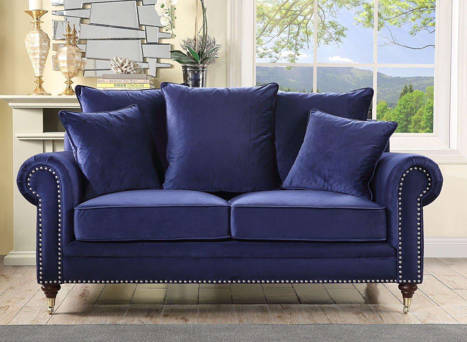 Petrol Blue Sofa Wayfair Co Uk
