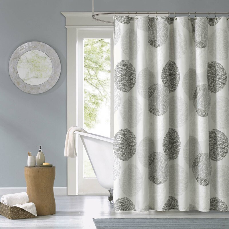 Zipcode Design Jeske Microfiber Shower Curtain & Reviews | Wayfair
