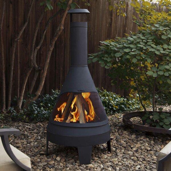 Aluminum Chiminea Aluminum Wood Burning Pyramid Steel: Real Flame Camber Steel Wood Burning Chiminea & Reviews