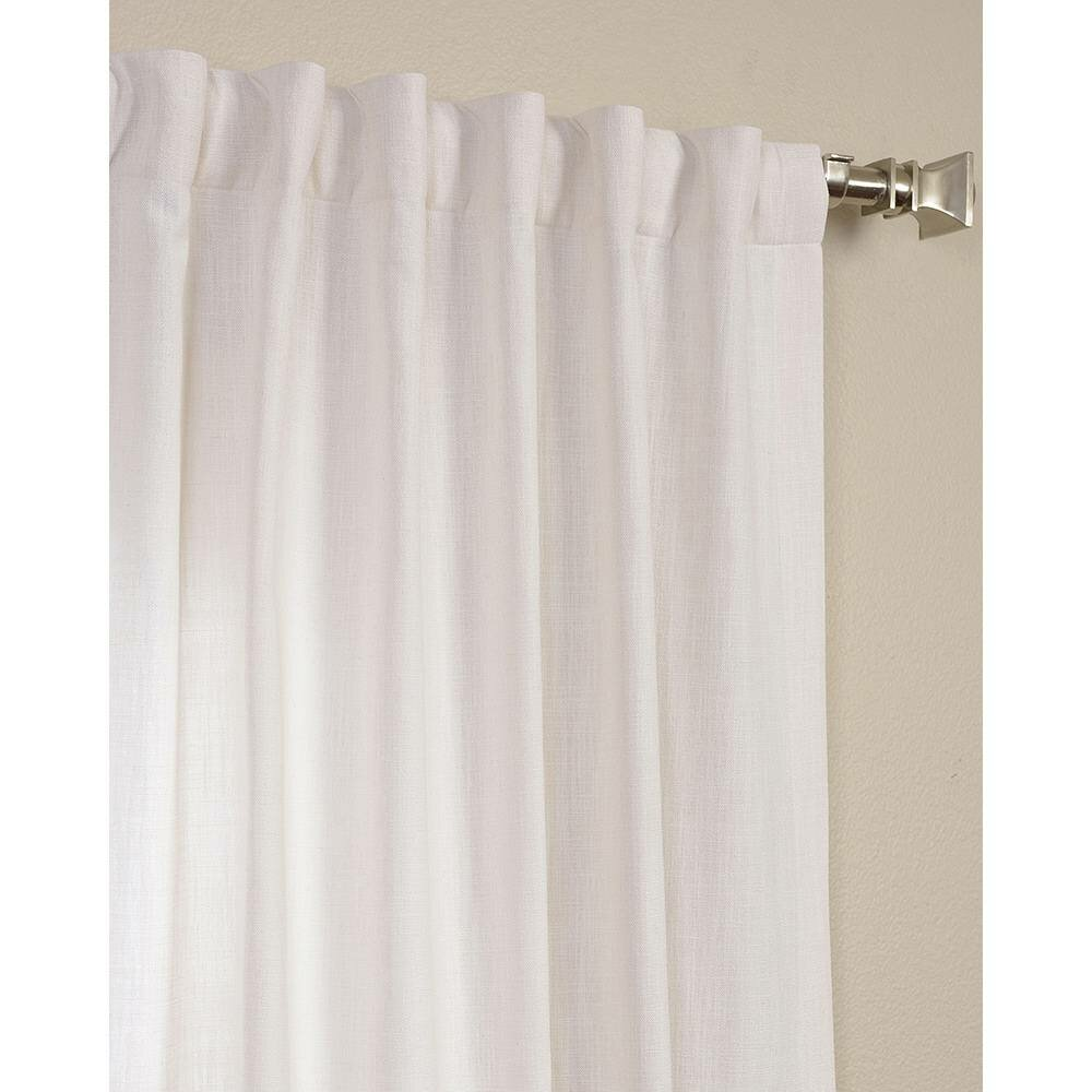 Solid Semi Sheer Pinch Pleat Single Curtain Panel Reviews Birch Lane
