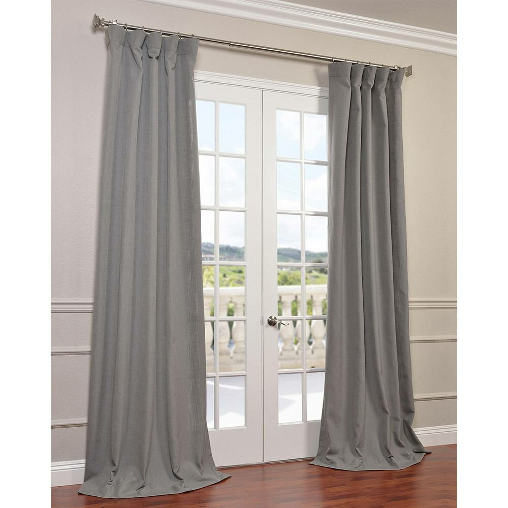 Half Price Drapes Solid Semi Sheer Pinch Pleat Single Curtain Panel Reviews