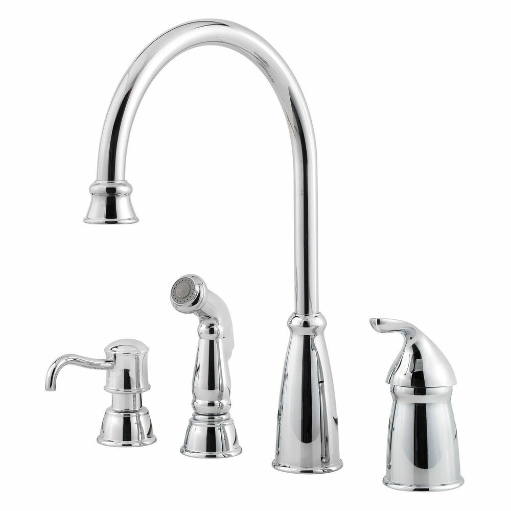 kitchen faucets with soap dispenser pfister avalon single handle deck mounted kitchen faucet with soap lotion dispenser and side 5994