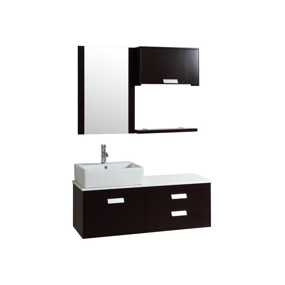 Kokols 51 5 Quot Single Bathroom Vanity Set With Mirror