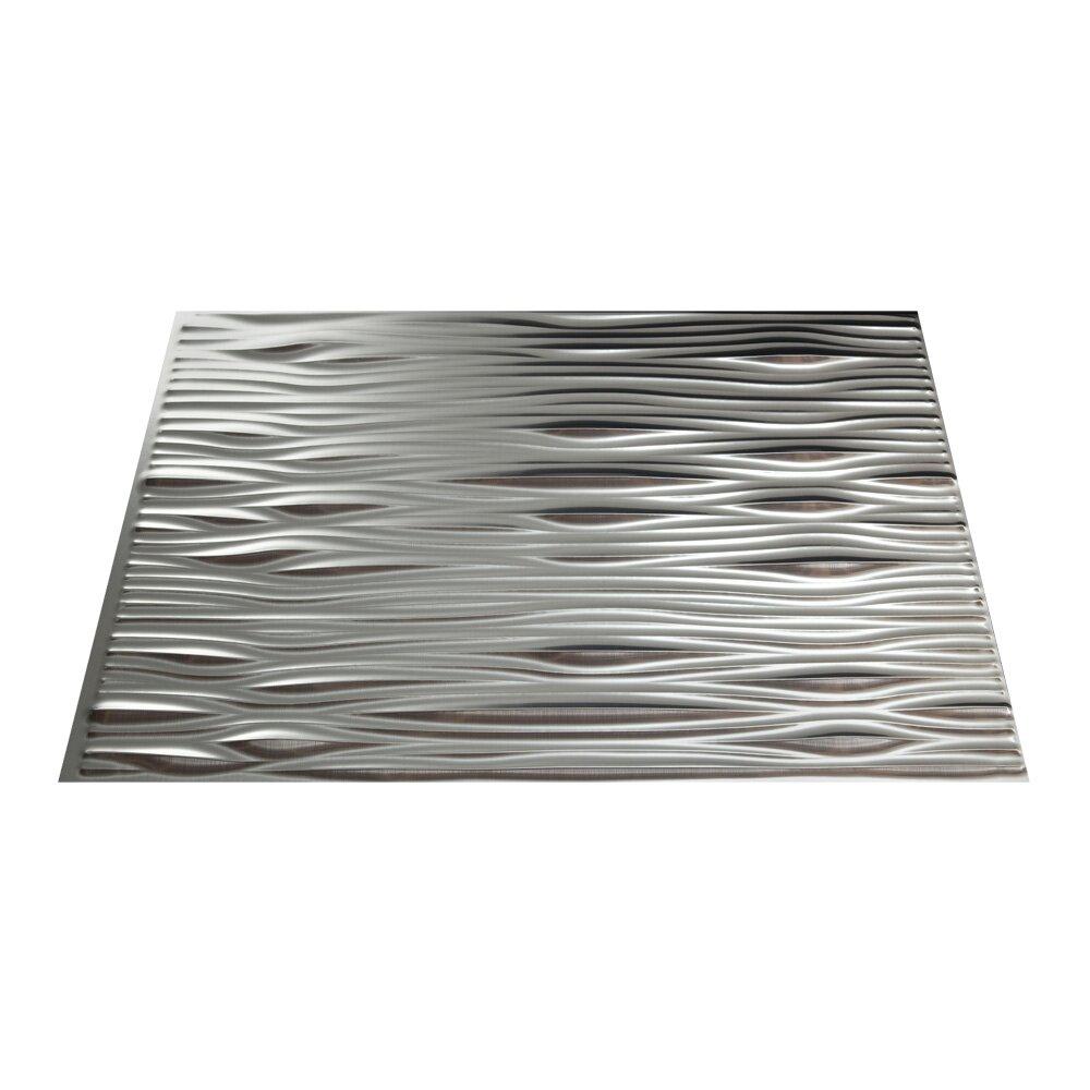 Aluminum W Panels : Fasade waves quot pvc backsplash panel kit in