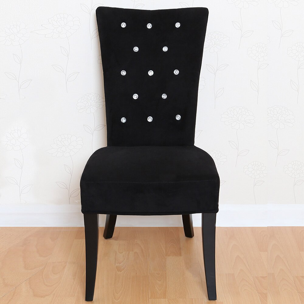 All Home Solid Wood Upholstered Dining Chair & Reviews