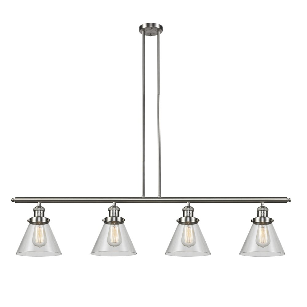 Innovations Lighting Glass Cone 4-Light Kitchen Island