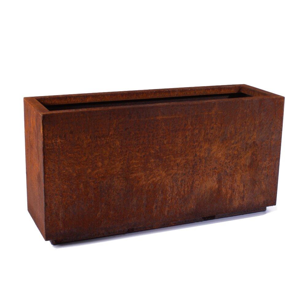 Metallic Series Corten Steel Planter Box - Veradek Metallic Series Corten Steel Planter Box & Reviews Wayfair