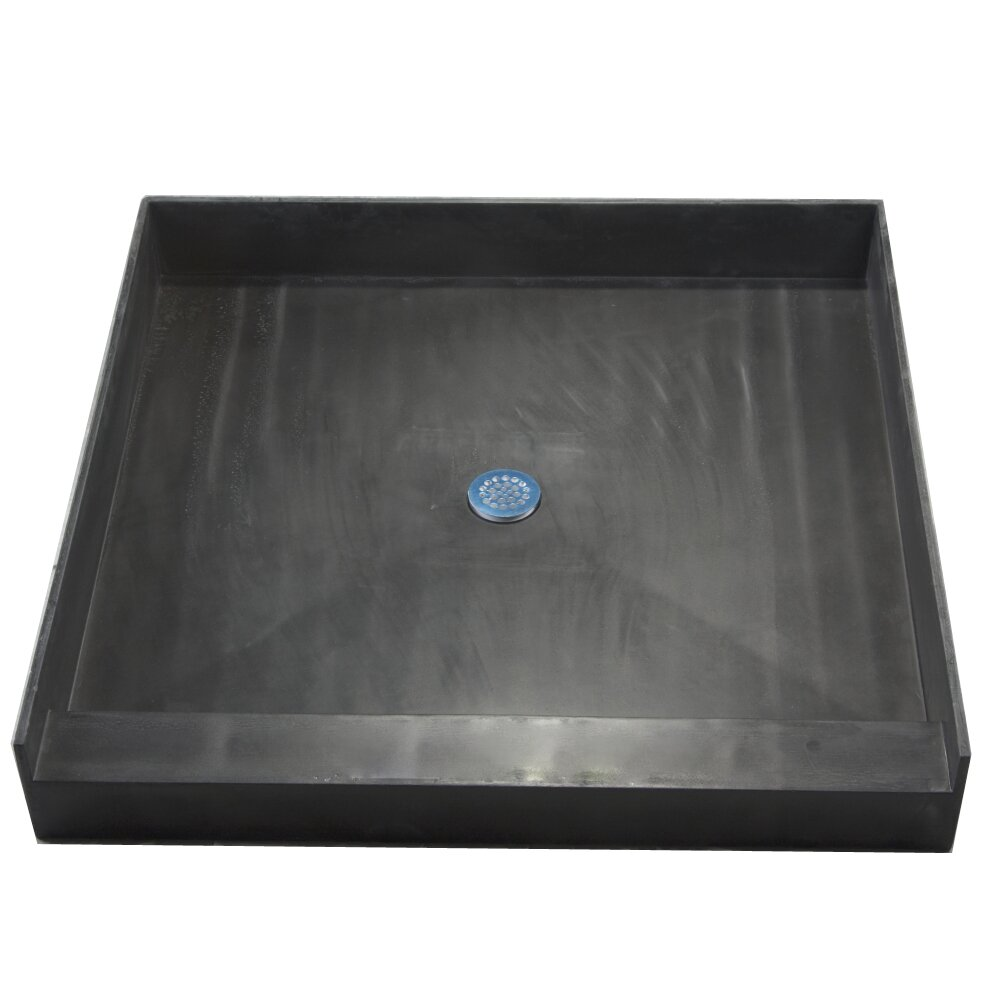 single curb square shower base