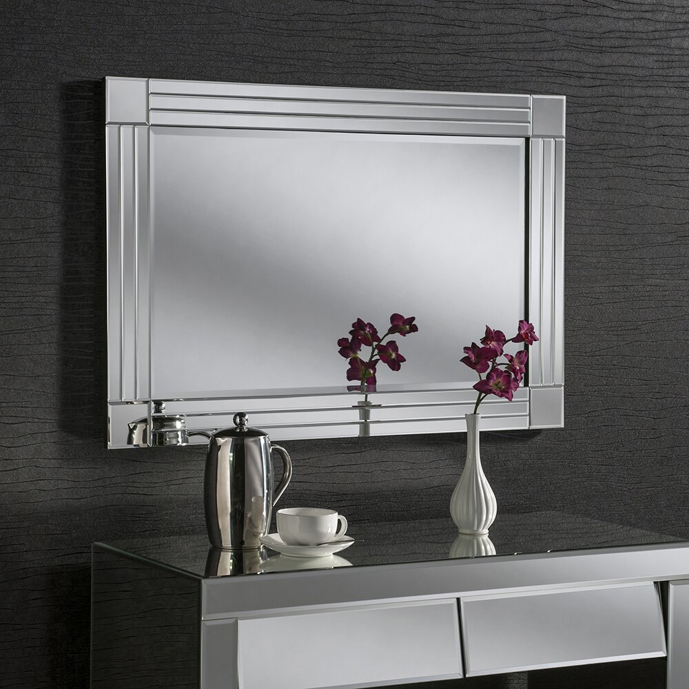 Yearn Mirrors Beveled Contemporary Wall Mirror Amp Reviews