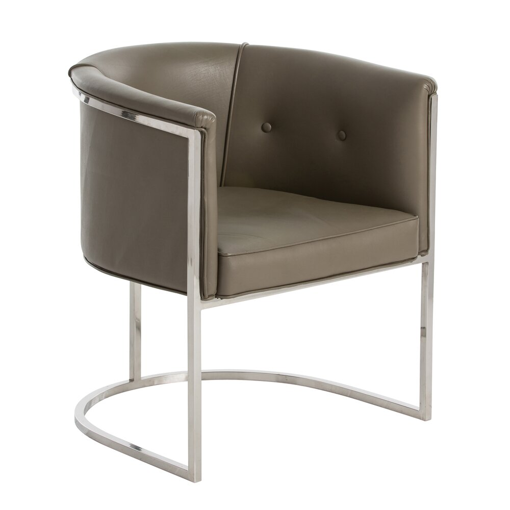ARTERIORS Home Calvin Genuine Leather Upholstered Dining