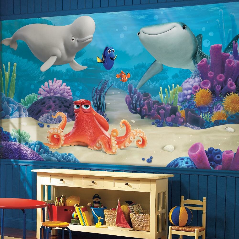 Room Mates Finding Dory Chair Rail Wall Mural