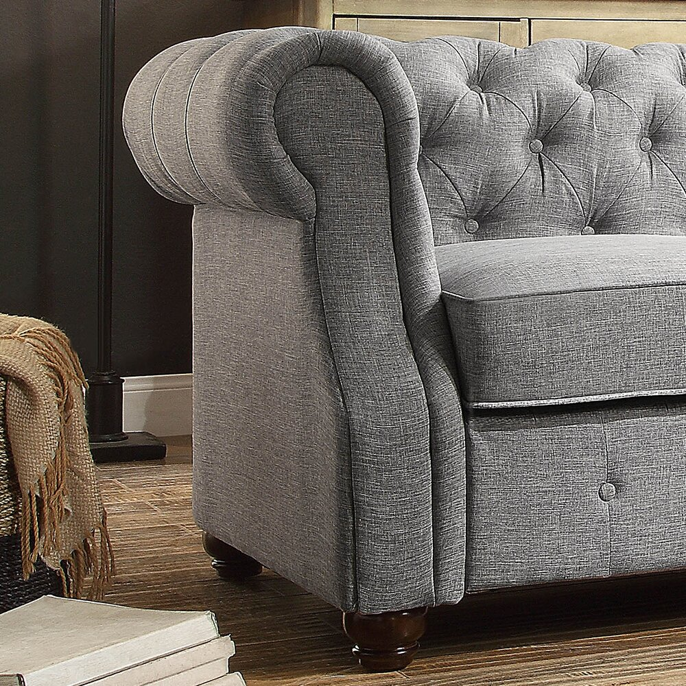 Mulhouse furniture olivia tufted chesterfield loveseat - Boutique free mulhouse ...