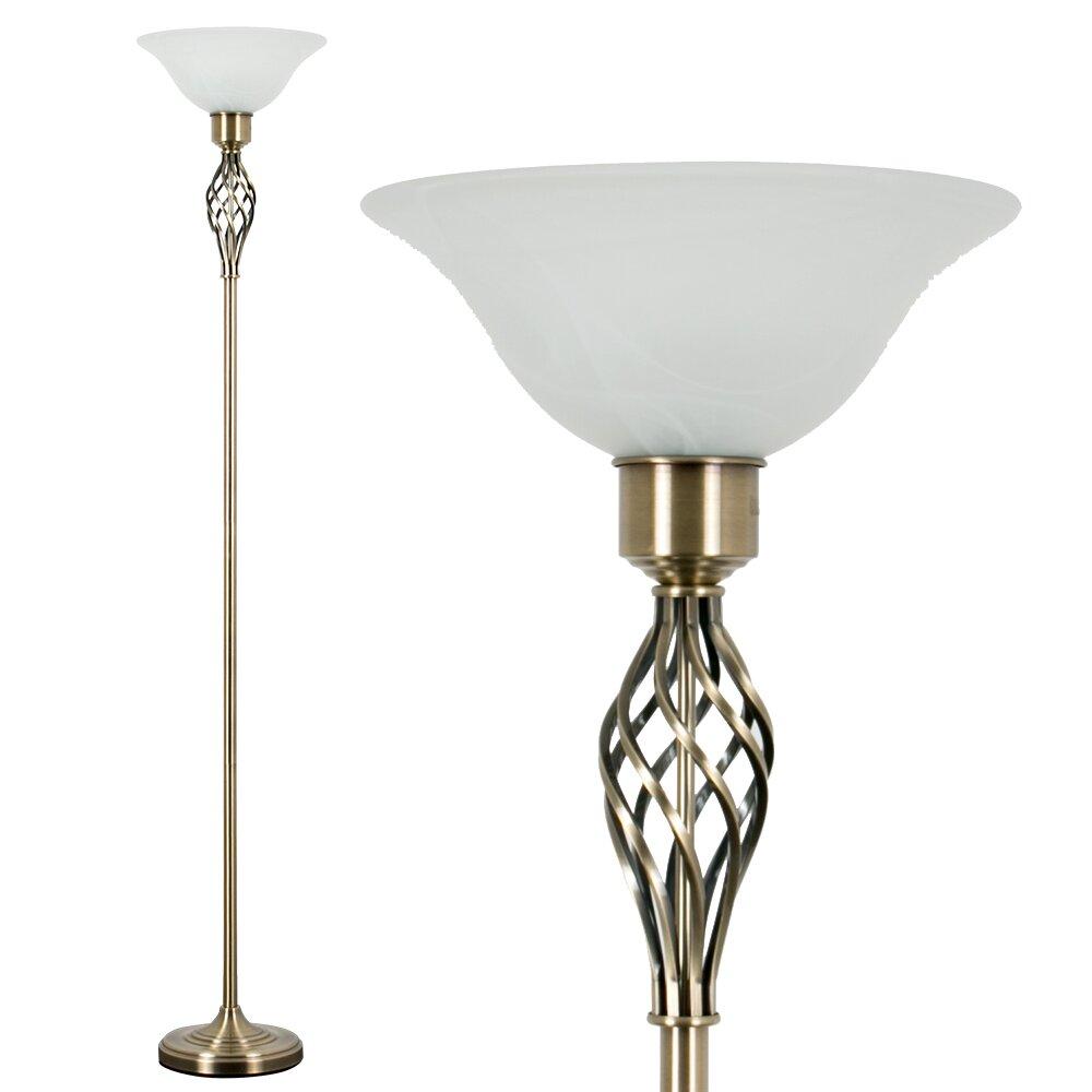 Minisun memphis 176cm uplighter floor lamp reviews for Living cameroon uplighter floor lamp antique brass finish