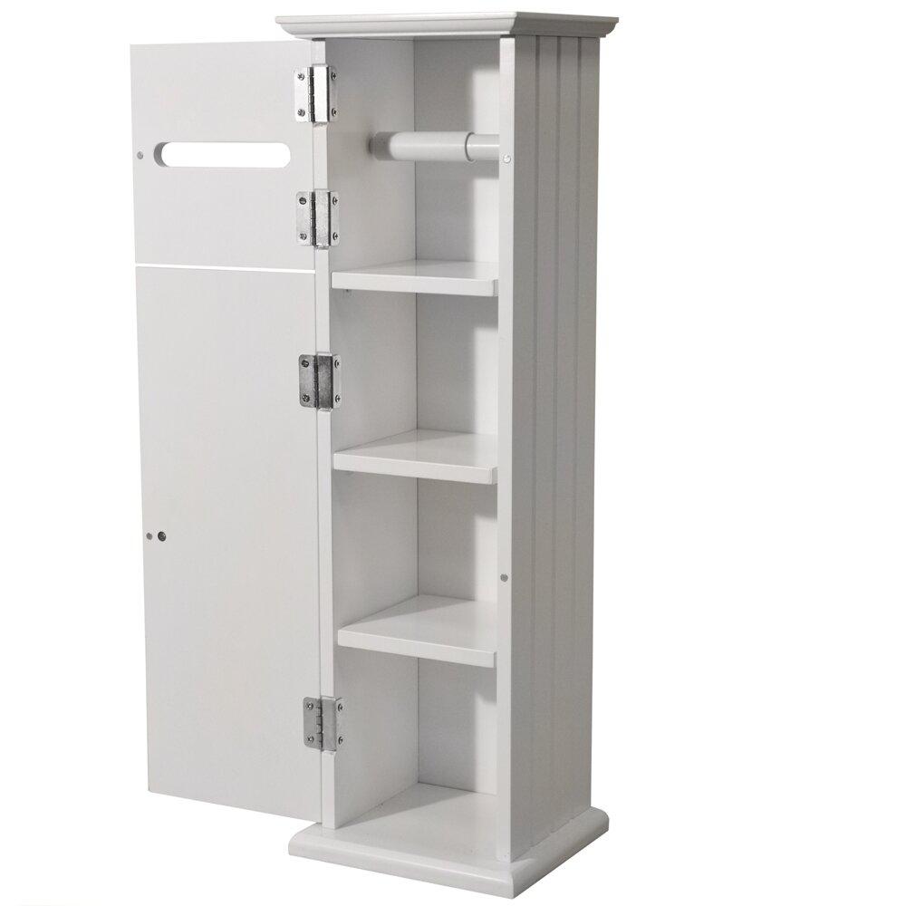 House additions freestanding cabinet toilet roll holder Glass toilet roll holder