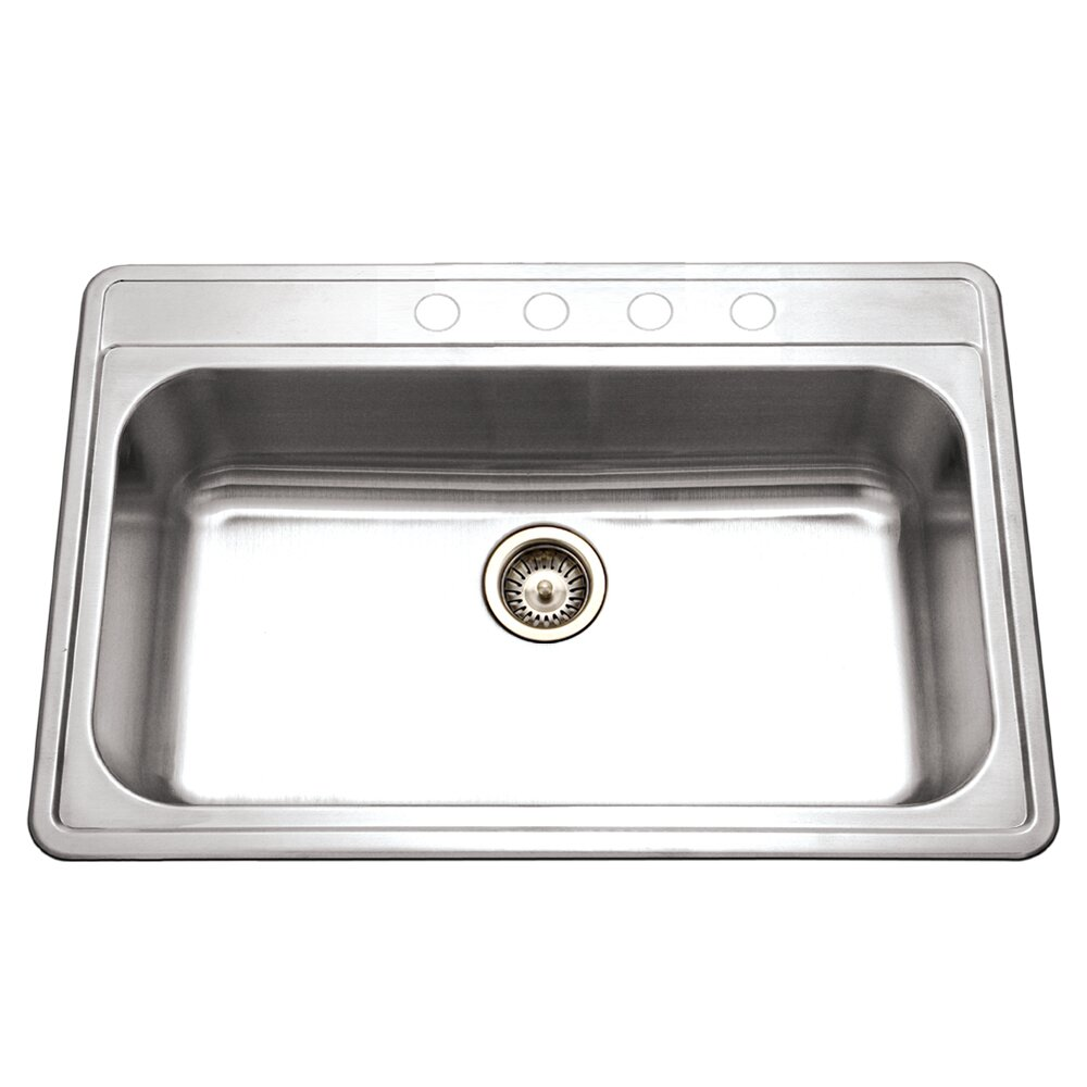 premiere gourmet 33 x 22 topmount single bowl kitchen sink - Bowl Kitchen Sink