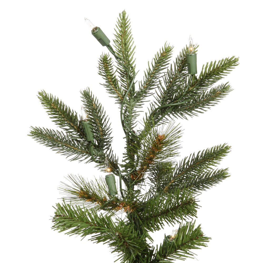 White Fir Christmas Tree: Vickerman Shawnee 8' Green Fir Artificial Christmas Tree