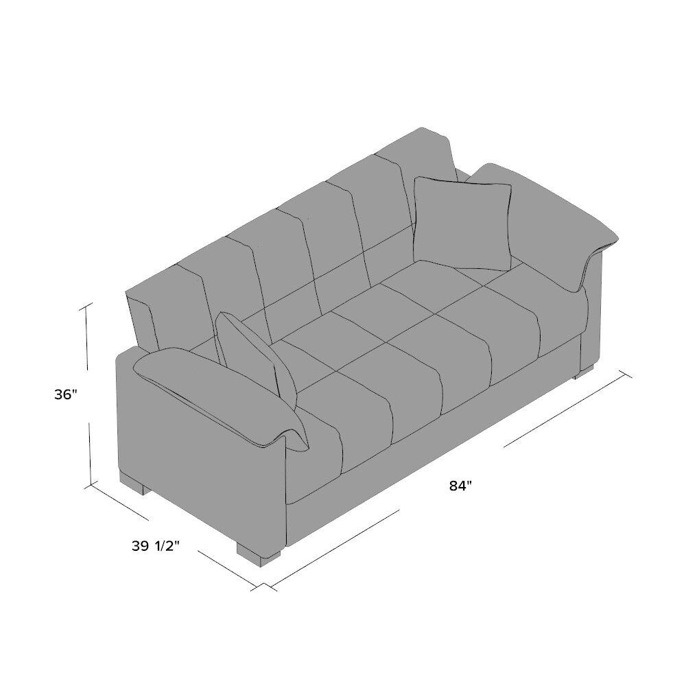 Andover Mills Minter Upholstered Sleeper Sofa Amp Reviews