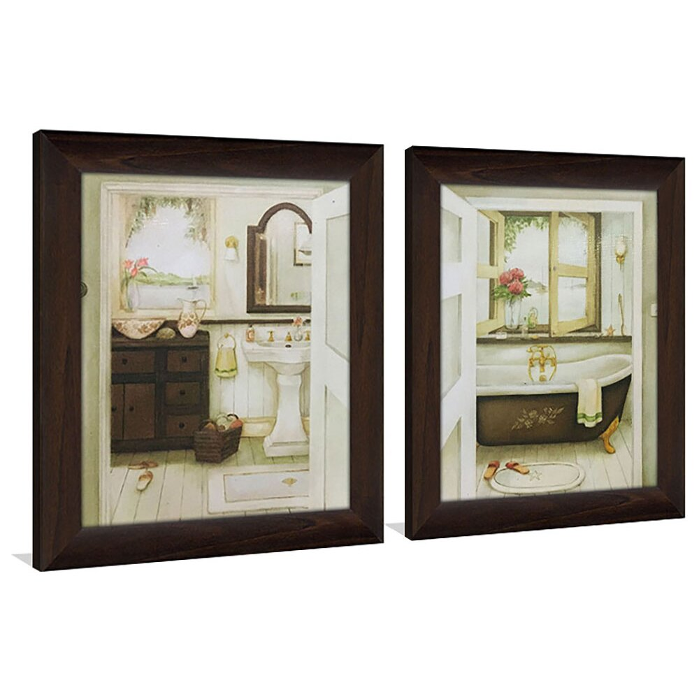 Pictureperfectinternational quotsink bathtubquot 2 piece for Kitchen cabinets lowes with set of 2 canvas wall art