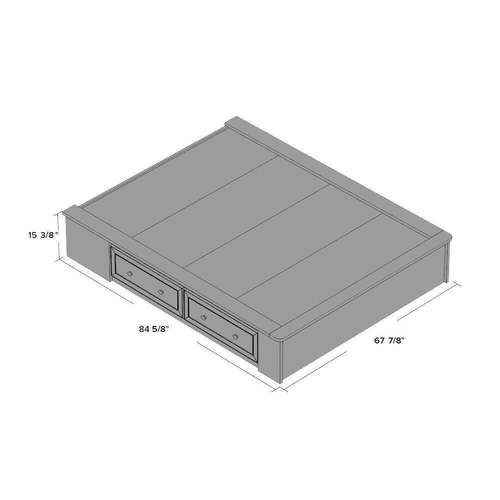 Platform Bed Three Boards