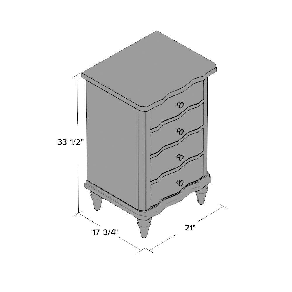 canora grey lewiston 4 drawer nightstand reviews wayfair. Black Bedroom Furniture Sets. Home Design Ideas